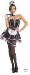 French Maid Cardboard Cutout Life Size Standup