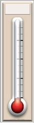 Fundraising Thermometer Poster Cardboard Cutout Life Size Standup