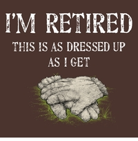 Gardening Retired Dressed Up Apron