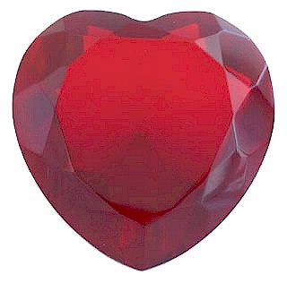 Glass Heart Shaped Paperweight, 2.25 Inches in Diameter, 1.25 Inches Tall - Click to enlarge