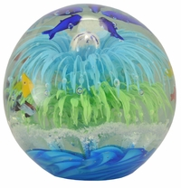 Glow in the Dark Sea Globe (Blue & Green)
