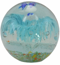 Glow in the Dark Small Sea Globe (Turquoise)
