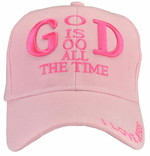 God Is Good All The Time Pink Hat - Click to enlarge