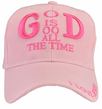 God Is Good All The Time Pink Hat