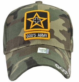 God's Army Green Camo Baseball Cap - Click to enlarge
