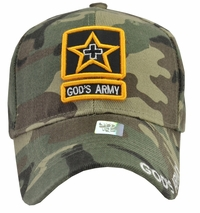 God's Army Green Camo Baseball Cap