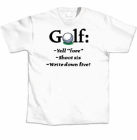Golf Yell Fore T-Shirt