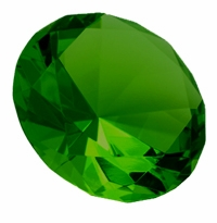 Green 3.15 Inch Solid Colored Diamond 80mm