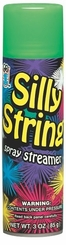 Green Silly String 3oz Can Made in the USA