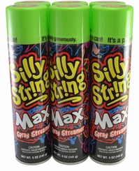 Green Silly String 5oz Can Made in the USA ( 6 Pack)