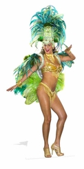 Groovy Green Festival Babe Cardboard Cutout Life Size Standup