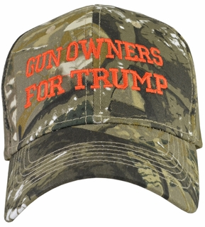 Gun Owners For Trump Camo Baseball Cap - Click to enlarge
