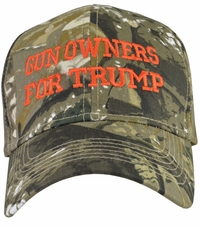 Gun Owners For Trump Camo Baseball Cap