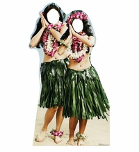Hawaiian Hula Girls Stand-in Cardboard Cutout Life Size Standup