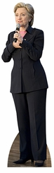 Hillary Clinton Black Suit with Microphone Cardboard Cutout Life Size Standup
