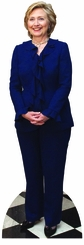 Hillary Clinton in Blue Cardboard Cutout Life Size Standup