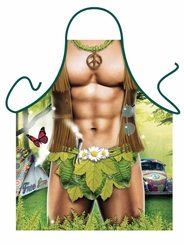 Hippy Man Funny Novelty Apron