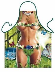 Hippy Woman Funny Apron