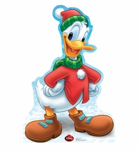Holiday Donald Duck � Disney Limited Time Edition! Cardboard Cutout Life Size Standup