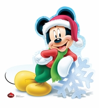 Holiday Mickey Mouse � Disney Limited Time Edition! Cardboard Cutout Life Size Standup
