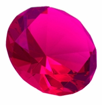 Hot Pink 3.15 Inch Diamond 80mm (Color painted)