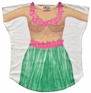 Hula Kid Cover-Up T-Shirt - Made in America - Click to enlarge