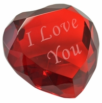 I Love You Heart Shaped Paperweight, 3.125 Inches