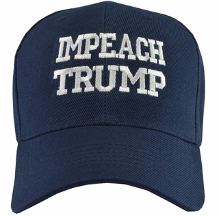 Impeach Trump Navy Blue Baseball Hat - Click to enlarge
