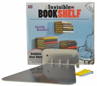 Invisible Bookshelf (Stainless Steel Sheet) - Click to enlarge