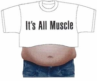 It's All Muscle - Beer Belly T-Shirt