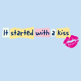 It Started with a Kiss Maternity Nightshirt - Click to enlarge