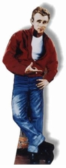 James Dean-Red Jacket Cardboard Cutout Life Size Standup