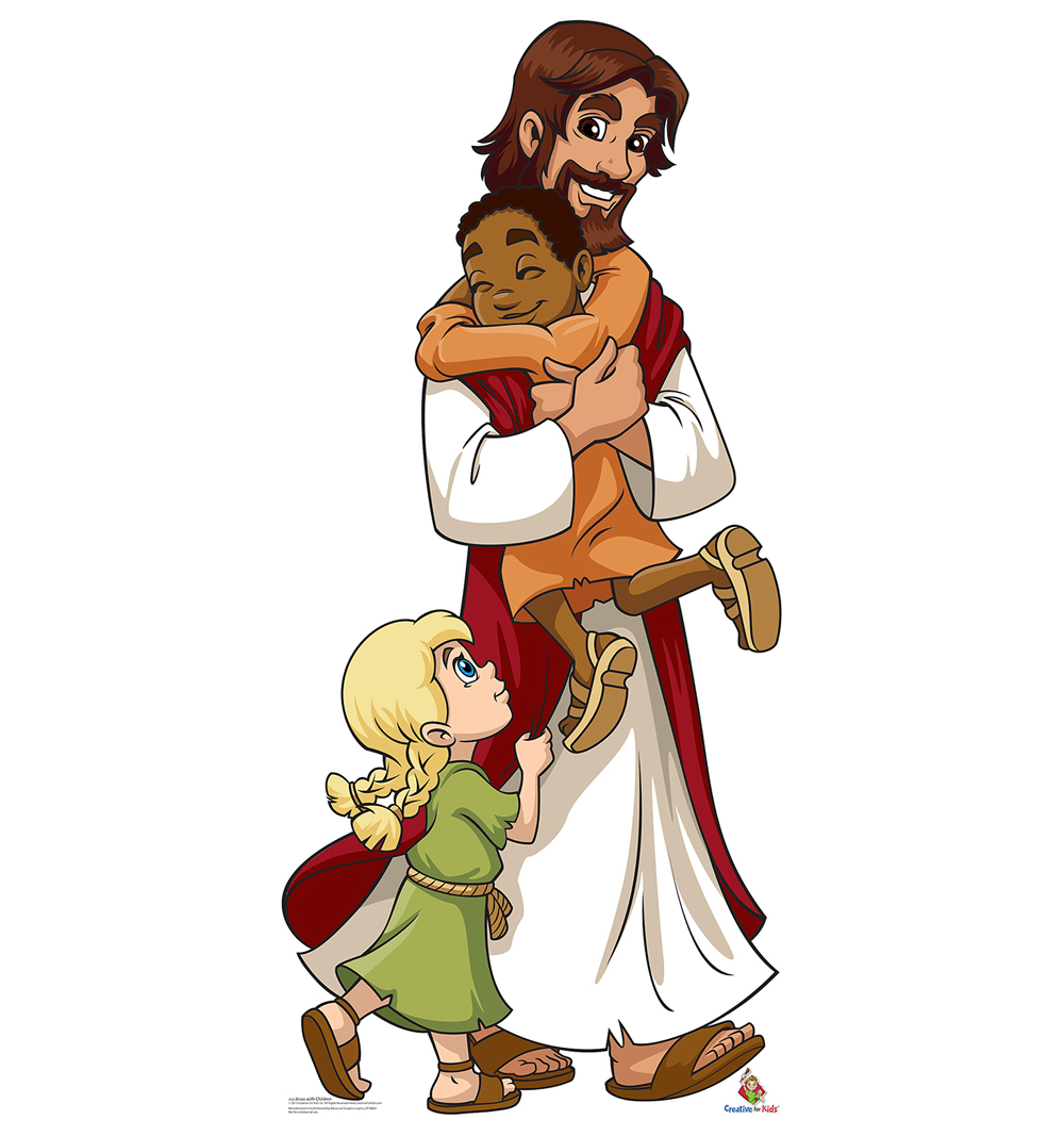 Jesus with Children Cardboard Cutout Life Size Standup