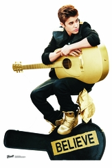 Justin Bieber with Guitar  Believe Cardboard Cutout Life Size Standup