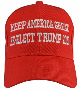 Keep America Great Re-Elect Trump 2020 Red Hat - Click to enlarge