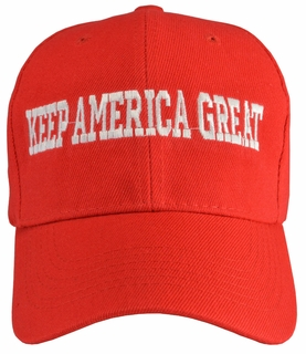Keep America Great Red Baseball Hat - Click to enlarge