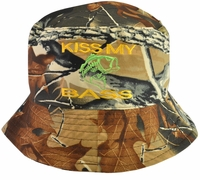 Kiss My Bass Hunter Brown Bucket Hat