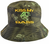 Kiss My Bass Camo Bucket Hat