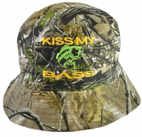 Kiss My Bass Hunter Gray Bucket Hat