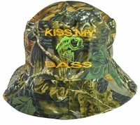 Kiss My Bass Hunter Green Bucket hat