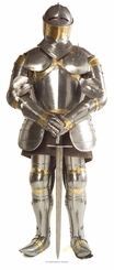 Knight In Armour Cardboard Cutout Life Size Standup