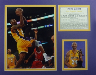 Kobe Bryant 11 x 14 Picture, Kobe Bryant custom matted photo - Click to enlarge