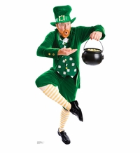 Leprechaun Pot of Gold Cardboard Cutout Life Size Standup