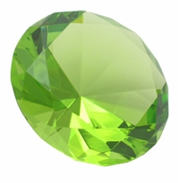 Light Green 3.15 Inch Diamond 80mm (Color painted)