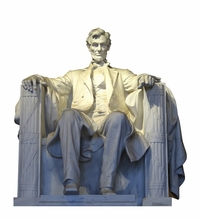 Lincoln Memorial Cardboard Cutout Life Size Standup