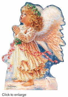 Christmas Stand In Cutouts.Little Christmas Angel Dona Gelsinger Cardboard Cutout Life