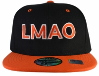 LMAO Black Hat Orange Brim Snapback
