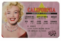Marilyn Monroe ID - California Driver License