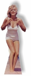 Marilyn Monroe in a White Swim Suit Cardboard Cutout Life Size Standup