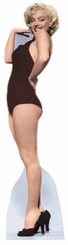 Marilyn Monroe in Black Swimsuit Cardboard Cutout Life Size Standup